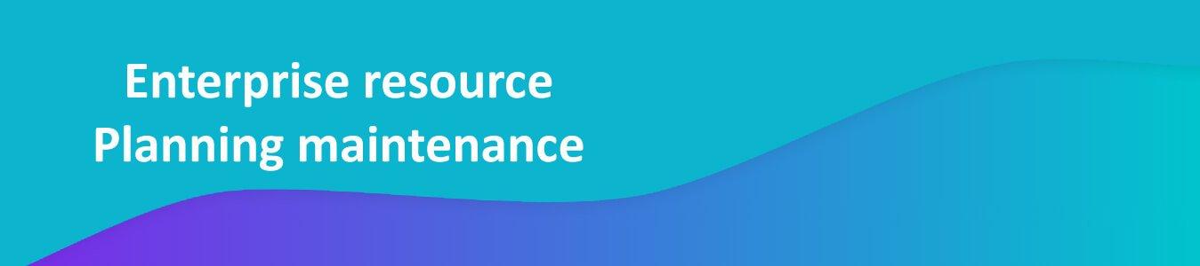 Enterprise Resource Planning Maintenance
