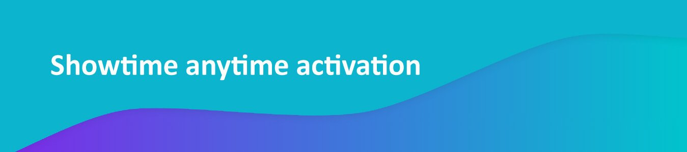 Showtime Anytime Activation